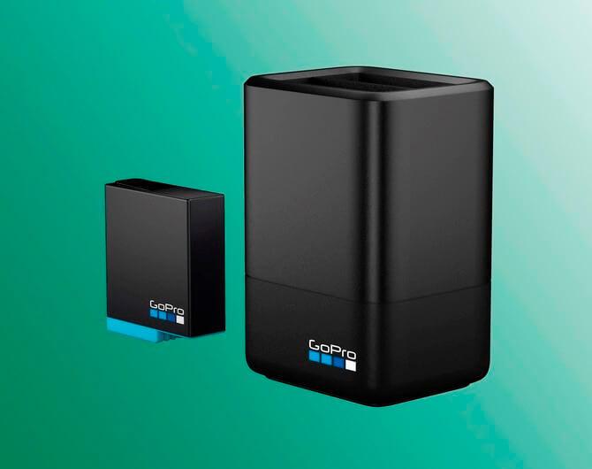 Зарядное устройство для двух аккумуляторных батарей GoPro HERO8 Dual Battery Charger + Battery