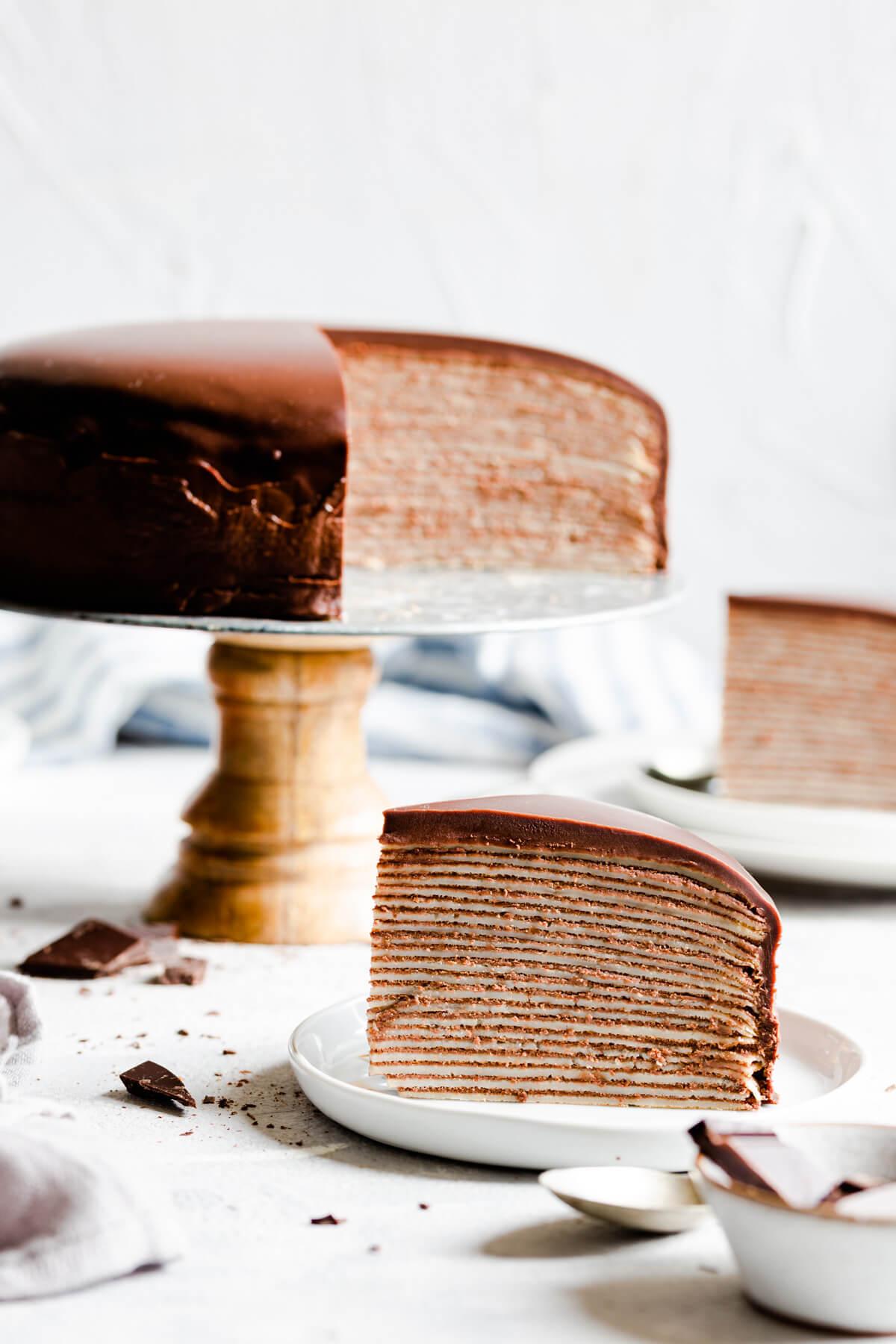 Блинный торт с шоколадным кремом