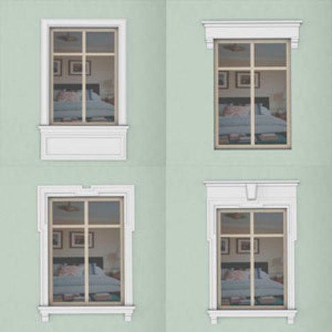 15 типов отделки окон на фасаде  дома и 1000 различных вариантов.