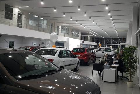 Проект освещения автосалона Lada.