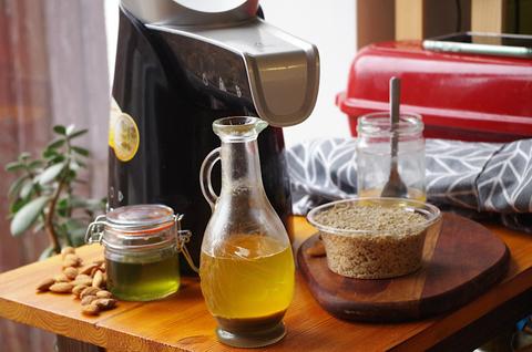 Ореховые масла на маслопрессе Rommelsbacher + смесь масел для кожи