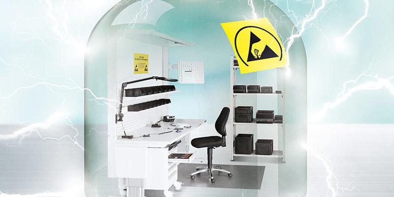 LogiMAT 2016: Новое ESD (electrostatic discharge) - защищенное рабочее место GARANT защитит ваши электронные компоненты от электростатического разряда