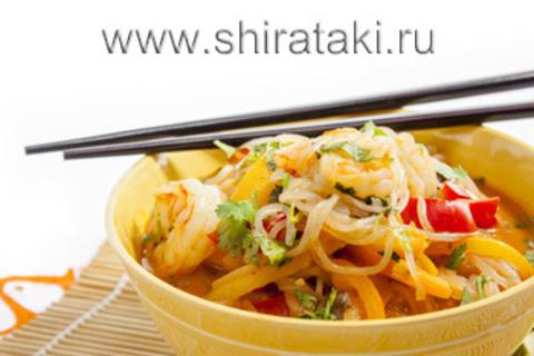 Ширатаки с пекинской капустой и кунжутом