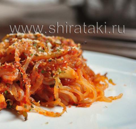 Красные спагетти