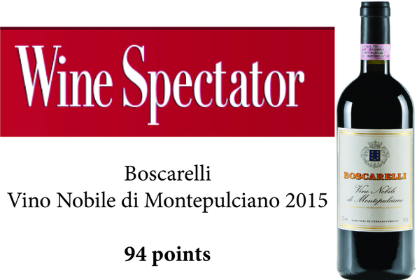 94 балла Wine Spectator для Boscarelli Vino Nobile
