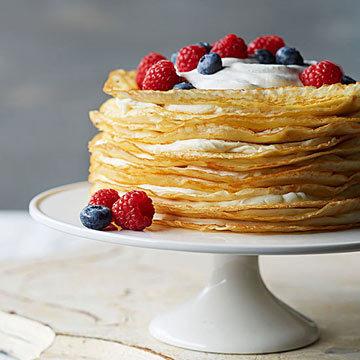 Блинный торт с малиновым джемом