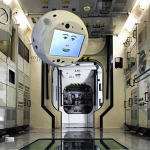 Парящий CIMON на борту космической станции