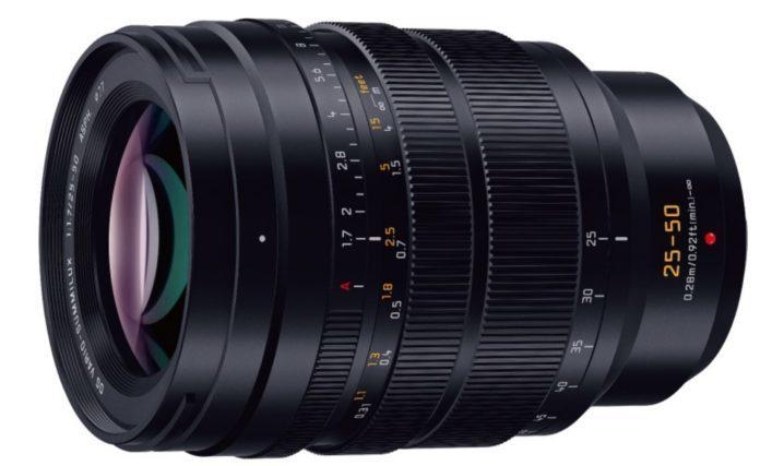 Опубликованы характеристики объектива Panasonic 25-50mm F/1.7 ASPH