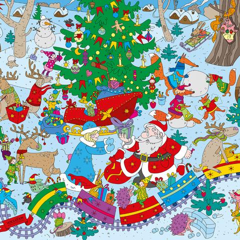 Подсказка для новогодней раскраски