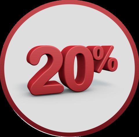 Праздничная скидка 20%