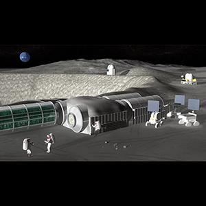 Удаленное управление техникой для строительства объектов на Луне