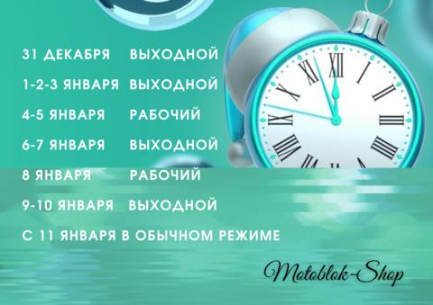 ГРАФИК РАБОТЫ ИНТЕРНЕТ-МАГАЗИНА В НОВОГОДНИЕ ПРАЗДНИКИ 2021 года