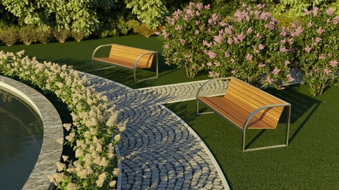 Landscape design in multi-level areas
