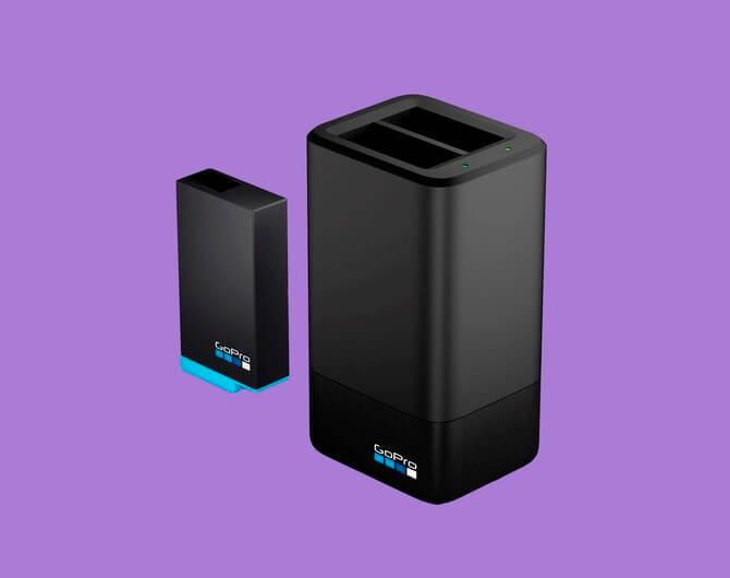 Зарядное устройство для двух аккумуляторных батарей GoPro MAX Dual Battery Charger + Battery