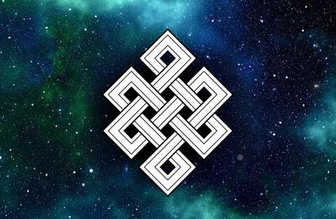 Амулет Тибетский узел бесконечности