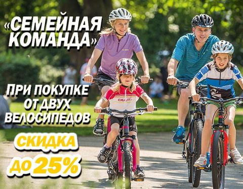 Скидка до 25% при покупке двух велосипедов