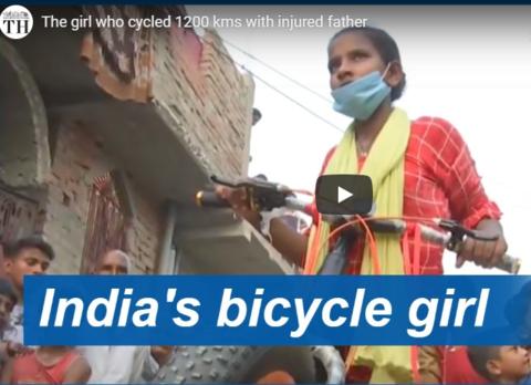15-летняя девочка 1200 километров везла своего отца на велосипеде
