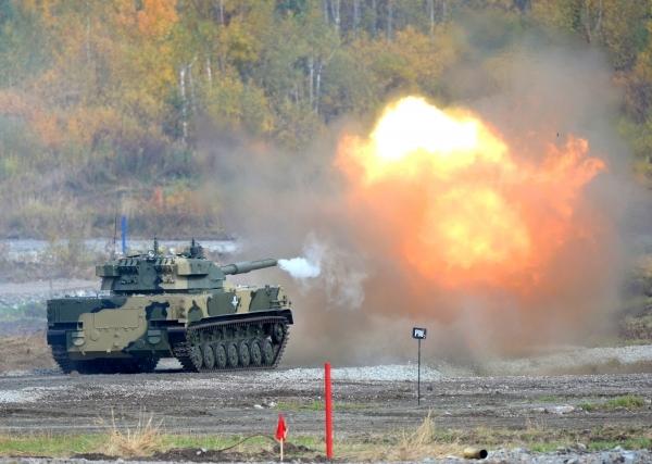 Гроза танков - модернизированная установка Спрут