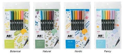Маркеры Tombow ABT в новых наборах по 6 гармонично подобранных цветов