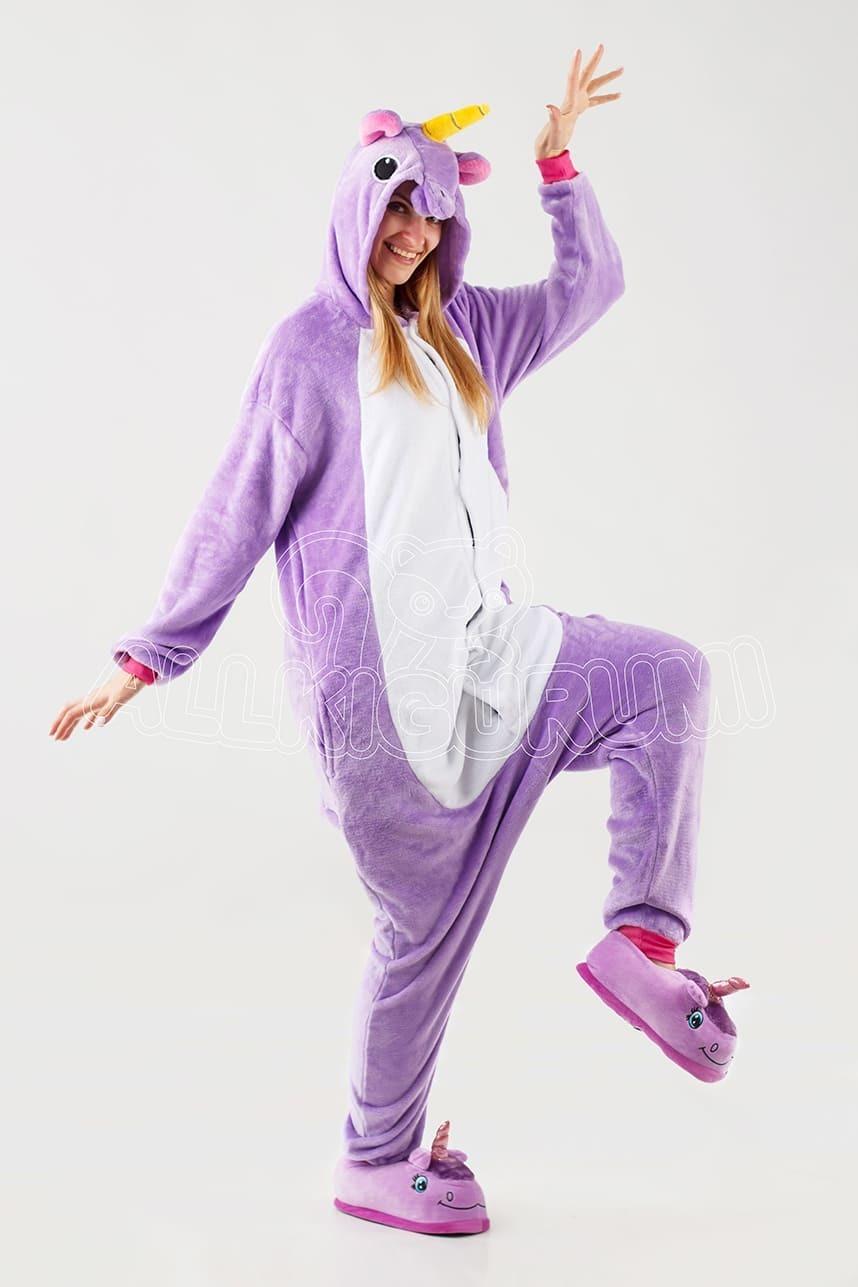 Обзор на пижаму кигуруми фиолетового единорога