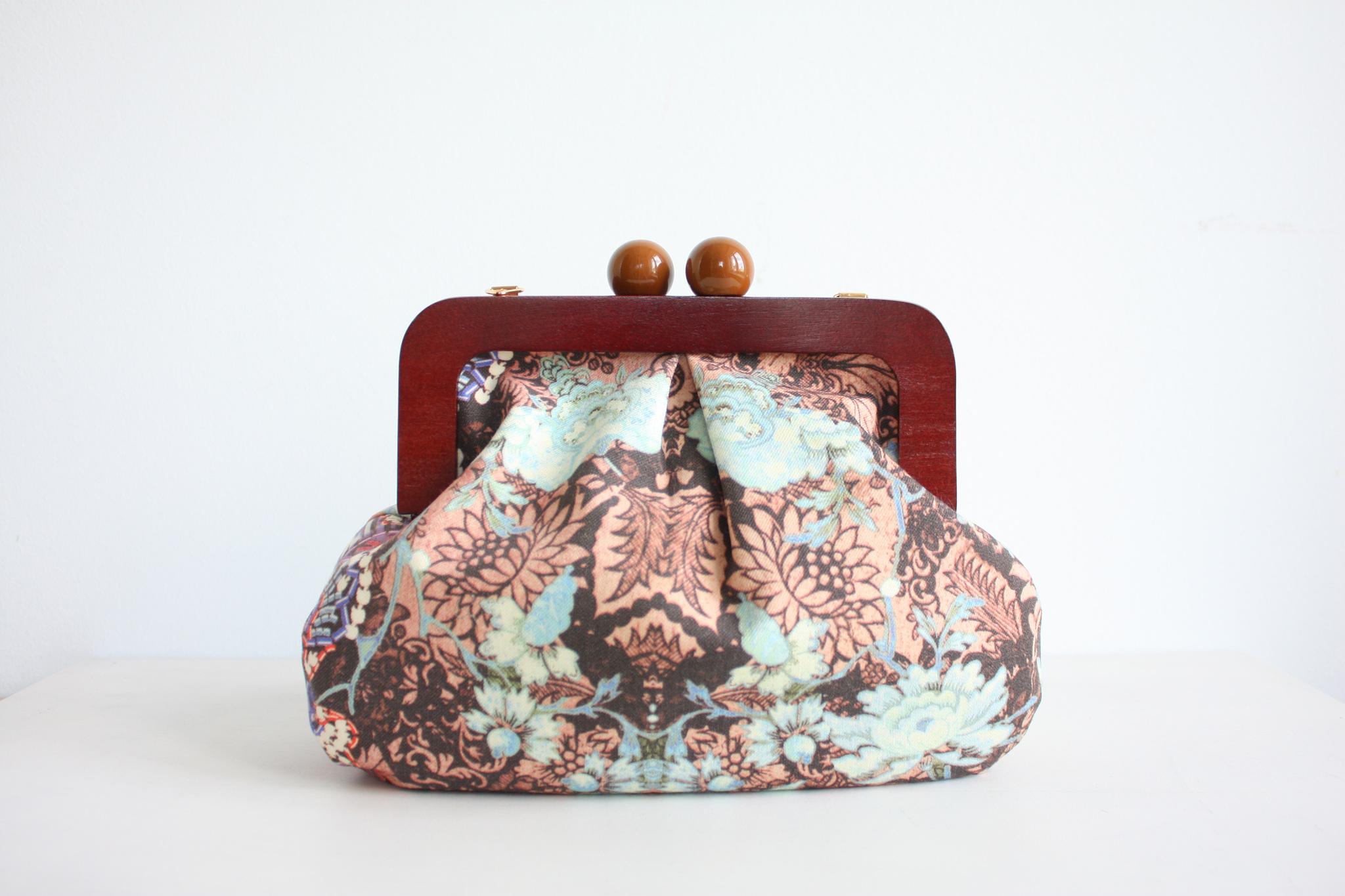 Шьем объемную сумку с деревянным фермуаром