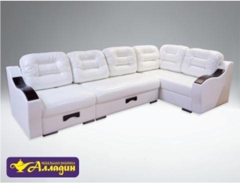 Модульный диван Магнат в белом цвете
