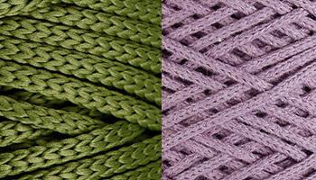 Отличие между хлопковым и полиэфирным шнуром для вязания