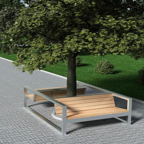 Новая продукция TRIF-MEBEL - антивандальные парковые скамьи четырехугольных и шестиугольных форм