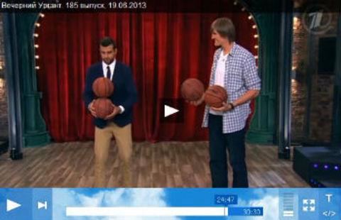 Мячи Spalding стали героями шоу на Первом канале