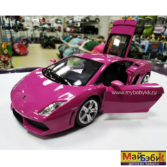 Металлическая машинка Lamborghini в розовом цвете!