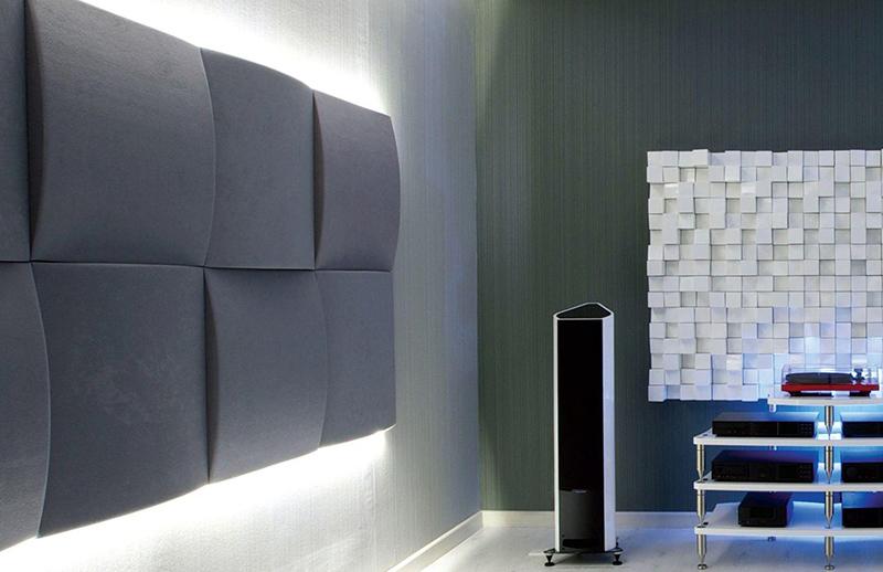 Применение акустических панелей и материалов