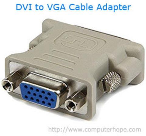 Конвертировать DVI в VGA или VGA на DVI?