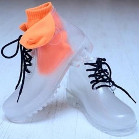 Прозрачные ботинки - хит дождливого сезона!