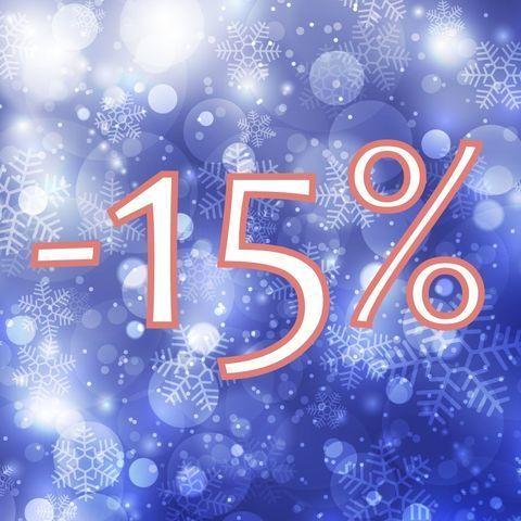 На все украшения 15 дней скидка 15%