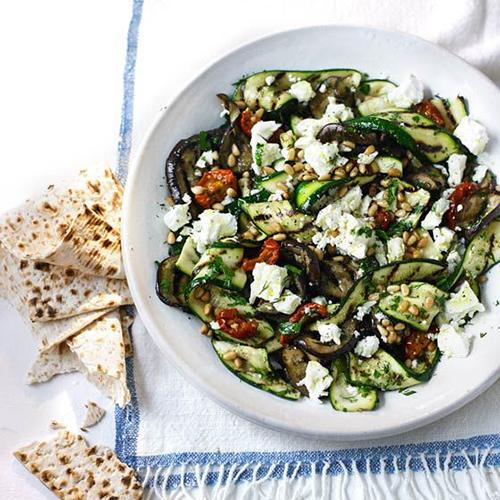 Табуле с овощами гриль и фетой
