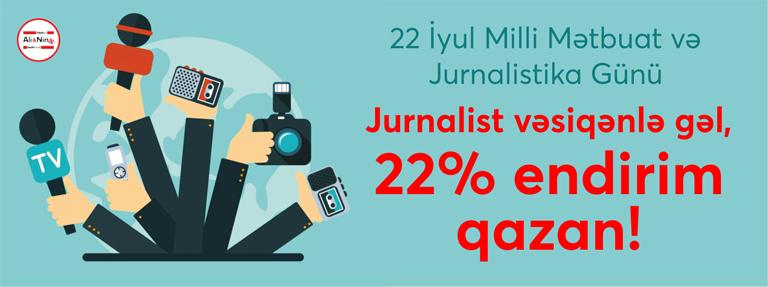 Milli Mətbuat Günündə jurnalistlərə diqqət!