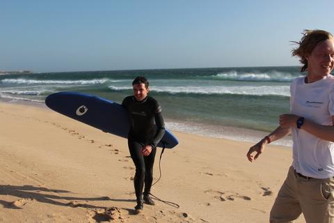 Юра и Коля на берегах Португалии