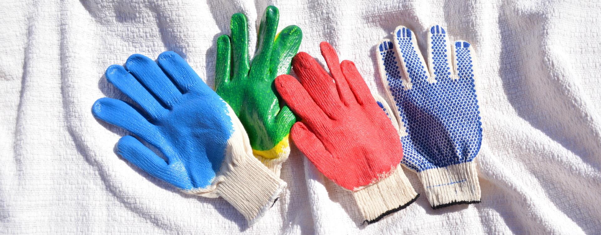 Оптовая продажа х/б перчаток с покрытием ПВХ
