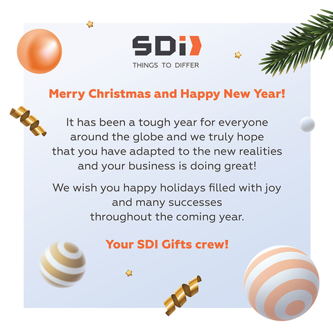 Merry Christmas and Happy New Year 2021 form SDI Gifts