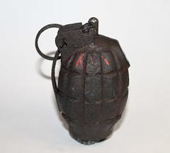 Поисковым магнитом в Кузбассе нашли столетнюю гранату