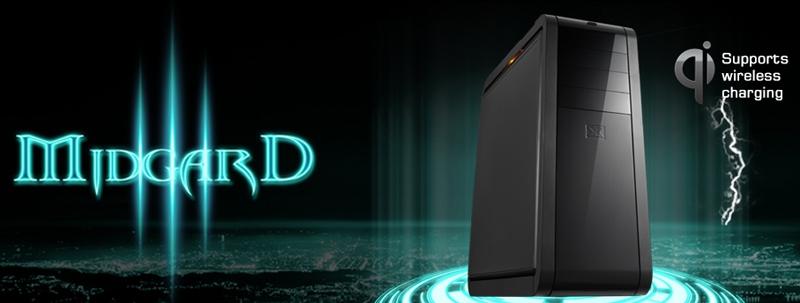 Корпус XIGMATEK Midgard III с беспроводной зарядкой Qi