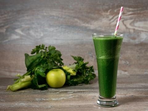 Зеленый коктейль, как в Bhajan Cafe