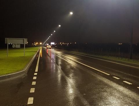 Освещение автомобильной дороги к Гимназии имени Е.М. ПРИМАКОВА