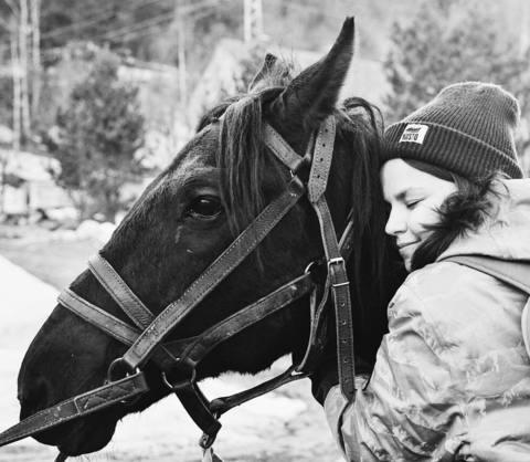 Ксюша любит лошадей