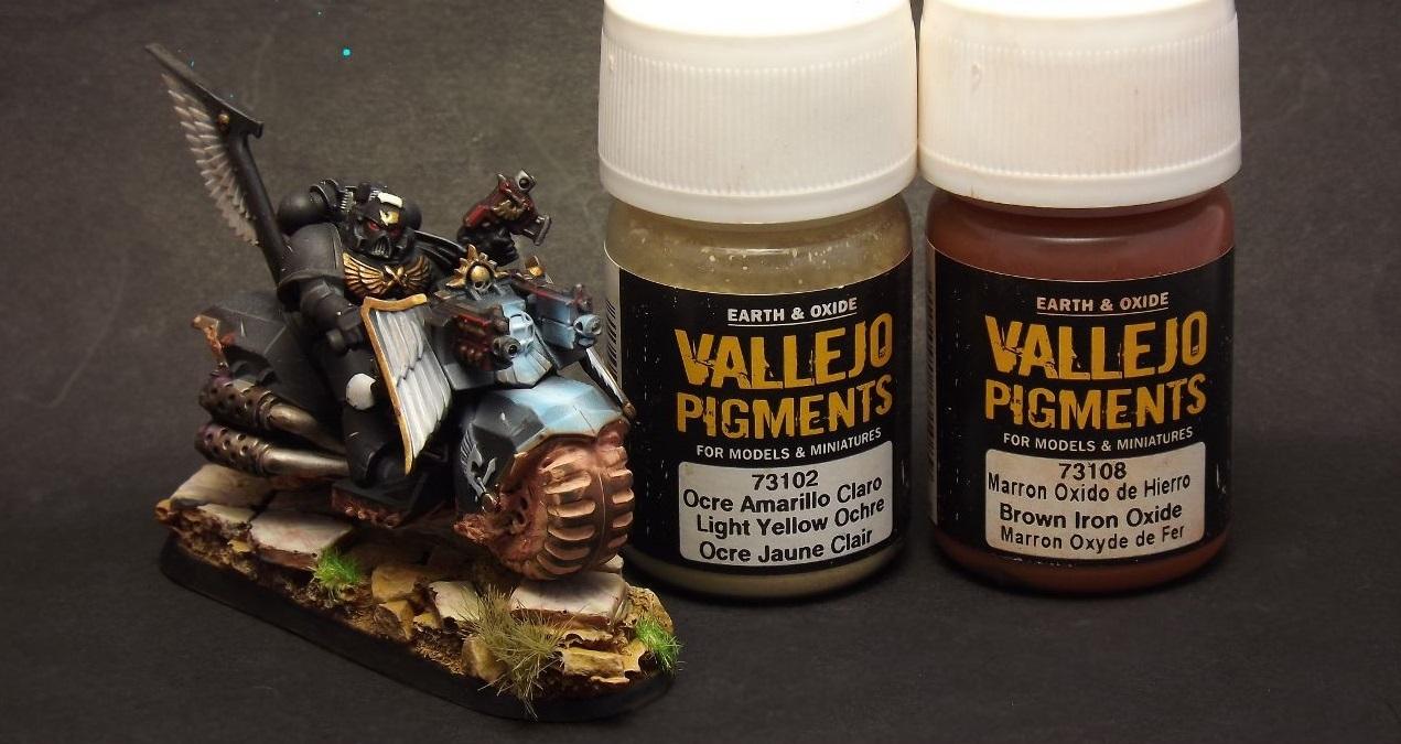 Применение пигментов Acrylicos Vallejo