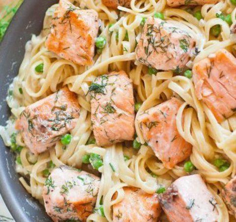 Паста с лососем в сливочном соусе - классика итальянской кухни