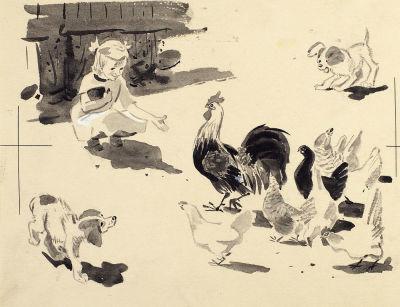 23 апреля родился Вениамин Николаевич ЛОСИН (1931-2012), русский художник, иллюстратор детских книг