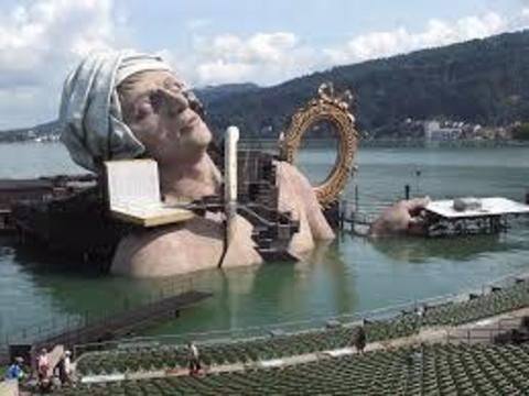 Опера Андре Шенье на озере в Брегенце, Австрия
