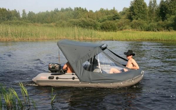 Тенты для надувной лодки: какие виды бывают и как сделать самому