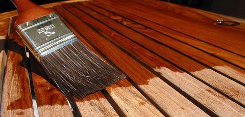 Морилки и лаки используемые для обработки древесины.